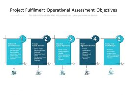 Project Fulfilment Operational Assessment Objectives