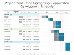 Project Gantt Chart Highlighting IT Application Development Schedule