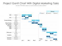 Project Gantt Chart With Digital Marketing Tasks