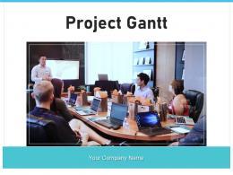 Project Gantt Strategy Organization Marketing Representing Development Schedule