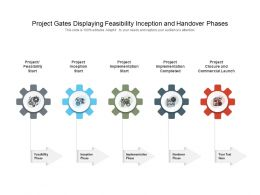 Project Gates Displaying Feasibility Inception And Handover Phases