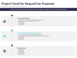 Project Goal For Request For Proposal Ppt Powerpoint Model Objects