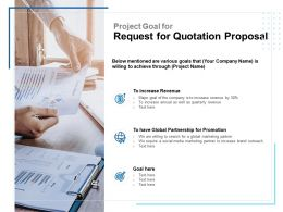 Project Goal For Request For Quotation Proposal Ppt Portfolio Maker