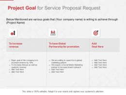 Project Goal For Service Proposal Request Ppt Powerpoint Styles