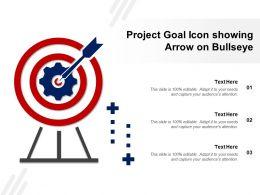 Project Goal Icon Showing Arrow On Bullseye