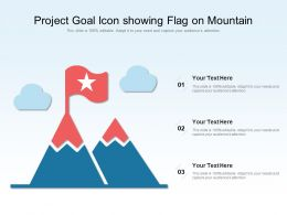 Project Goal Icon Showing Flag On Mountain