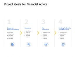 Project Goals For Financial Advice Resources Ppt Powerpoint Presentation Rules