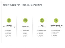 Project Goals For Financial Consulting Formulation Powerpoint Presentation Styles