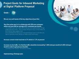 Project Goals For Inbound Marketing At Digital Platform Proposal Ppt Infographics