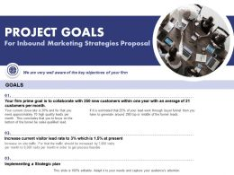 Project Goals For Inbound Marketing Strategies Proposal Ppt Powerpoint Portfolio