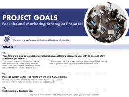Project Goals For Inbound Marketing Strategies Proposal Ppt Powerpoint Portfolio