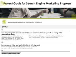 Project Goals For Search Engine Marketing Proposal Ppt Powerpoint Presentation Icon