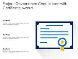 Project Governance Charter Icon With Certificate Award
