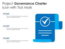 Project Governance Charter Icon With Tick Mark