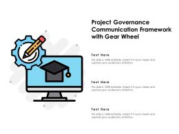 Project Governance Communication Framework With Gear Wheel