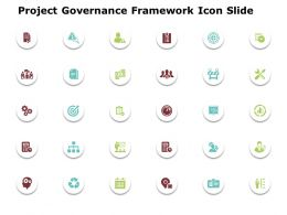 Project Governance Framework Icon Slide Ppt Powerpoint Presentation File Icon