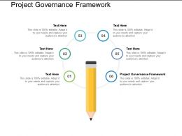 Project Governance Framework Ppt Powerpoint Presentation Gallery Icons Cpb