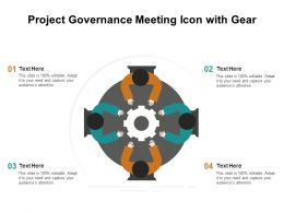 Project Governance Meeting Icon With Gear