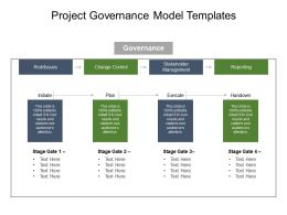 project governance model templates powerpoint slide graphics