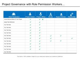 Project Governance With Role Permission Workers And Stakeholders