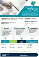Project Grant One Page Proposal Presentation Report Infographic PPT PDF Document