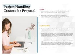 Project Handling Context For Proposal Ppt Powerpoint Presentation