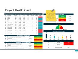 Project Health Card Ppt Example File