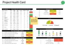 Project Health Card Ppt Gallery Rules