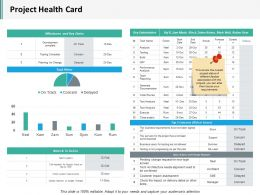Project Health Card Slide2 Ppt Infographics Structure