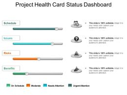 Project Health Card Status Dashboard Powerpoint Slide Backgrounds