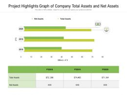 Project Highlights Graph Of Company Total Assets And Net Assets