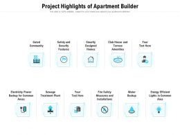 Project Highlights Of Apartment Builder