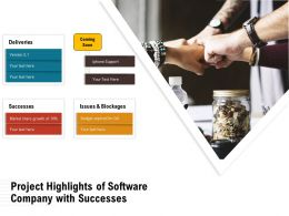 Project Highlights Of Software Company With Successes