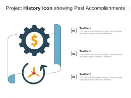 Project History Icon Showing Past Accomplishments