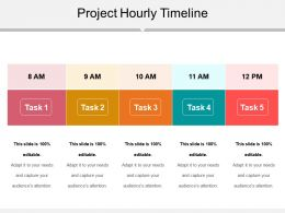 Project Hourly Timeline Sample Ppt Files