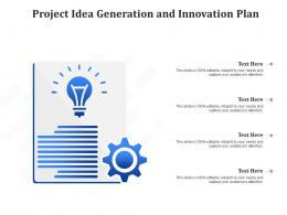 Project Idea Generation And Innovation Plan