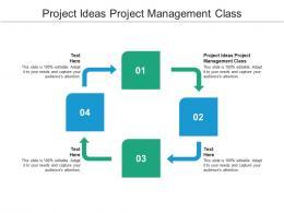 Project Ideas Project Management Class Ppt Powerpoint Presentation Portfolio Vector Cpb