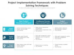 Project Implementation Framework With Problem Solving Techniques
