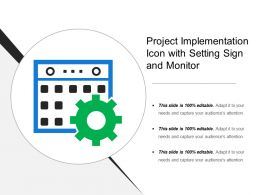 Project Implementation Icon With Setting Sign And Monitor