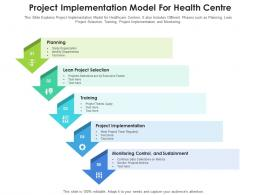Project Implementation Model For Health Centre