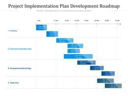 Project Implementation Plan Development Roadmap
