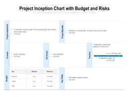 Project Inception Chart With Budget And Risks