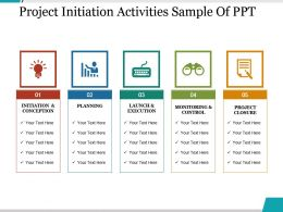 Project Initiation Activities Sample Of Ppt
