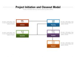 Project Initiation And Closeout Model