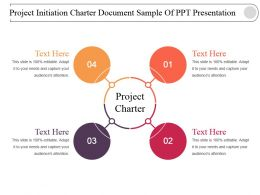 Project Initiation Charter Document Sample Of Ppt Presentation