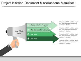 Project Initiation Document Miscellaneous Manufacturing Finance Function