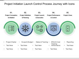 Project Initiation Launch Control Process Journey With Icons