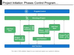Project Initiation Phases Control Program Integration Flow With Arrows And Icons