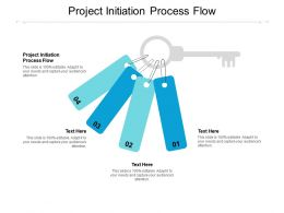 Project Initiation Process Flow Ppt Powerpoint Presentation Styles Outline Cpb