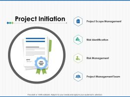 Project Initiation Risk Identification Ppt Powerpoint Presentation File Template